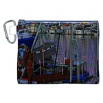 Christmas Boats In Harbor Canvas Cosmetic Bag (XXL) Front