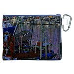 Christmas Boats In Harbor Canvas Cosmetic Bag (XXL) Back