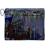 Christmas Boats In Harbor Canvas Cosmetic Bag (XXXL) Front