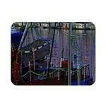 Christmas Boats In Harbor Double Sided Flano Blanket (Mini)  35 x27 Blanket Front
