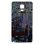 Christmas Boats In Harbor Galaxy Note 4 Back Case Front