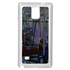 Christmas Boats In Harbor Samsung Galaxy Note 4 Case (White)