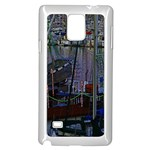 Christmas Boats In Harbor Samsung Galaxy Note 4 Case (White) Front