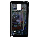 Christmas Boats In Harbor Samsung Galaxy Note 4 Case (Black) Front