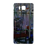 Christmas Boats In Harbor Samsung Galaxy Alpha Hardshell Back Case Front