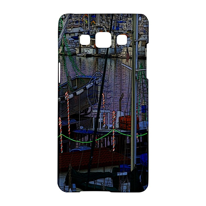 Christmas Boats In Harbor Samsung Galaxy A5 Hardshell Case
