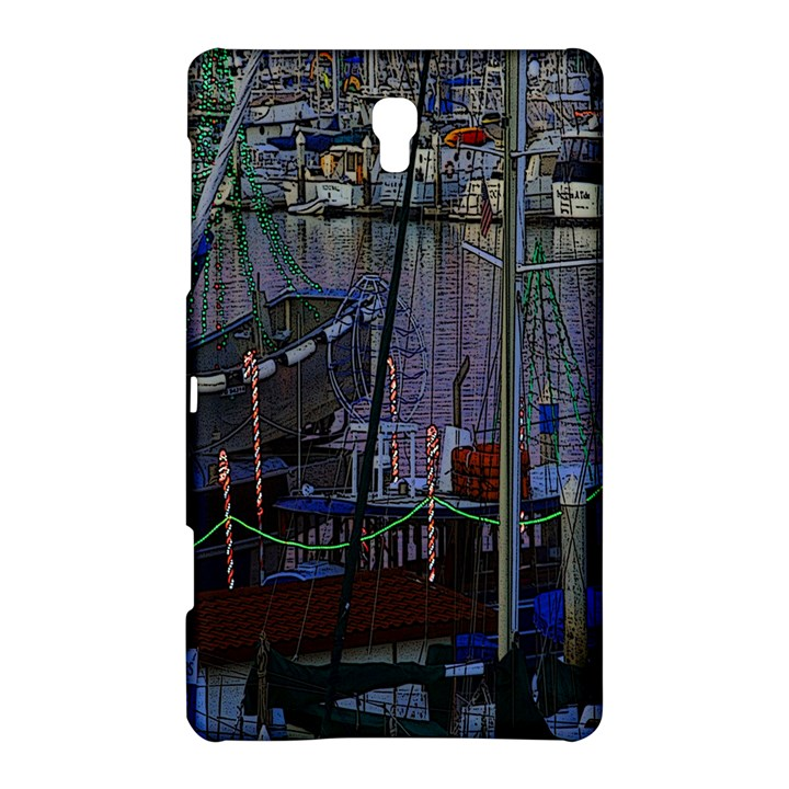 Christmas Boats In Harbor Samsung Galaxy Tab S (8.4 ) Hardshell Case