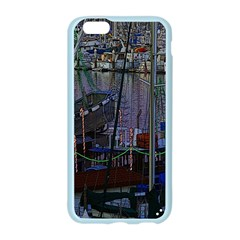 Christmas Boats In Harbor Apple Seamless iPhone 6/6S Case (Color)