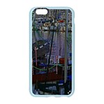 Christmas Boats In Harbor Apple Seamless iPhone 6/6S Case (Color) Front