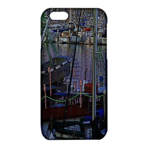 Christmas Boats In Harbor iPhone 6/6S TPU Case