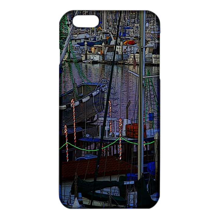 Christmas Boats In Harbor iPhone 6 Plus/6S Plus TPU Case