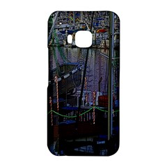 Christmas Boats In Harbor HTC One M9 Hardshell Case