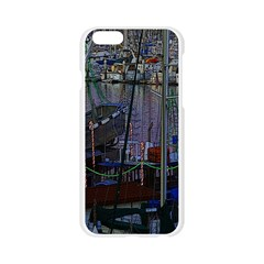 Christmas Boats In Harbor Apple Seamless iPhone 6/6S Case (Transparent)