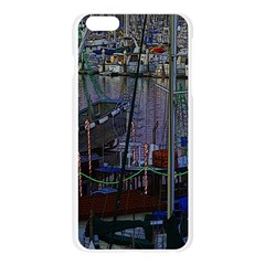 Christmas Boats In Harbor Apple Seamless iPhone 6 Plus/6S Plus Case (Transparent)