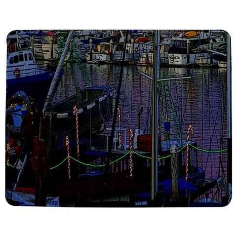 Christmas Boats In Harbor Jigsaw Puzzle Photo Stand (Rectangular)