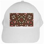 Christmas Kaleidoscope White Cap Front
