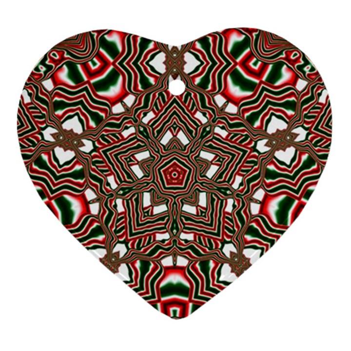 Christmas Kaleidoscope Ornament (Heart)