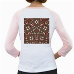 Christmas Kaleidoscope Girly Raglans Back