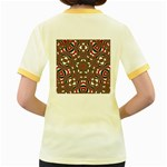 Christmas Kaleidoscope Women s Fitted Ringer T-Shirts Back