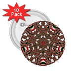 Christmas Kaleidoscope 2.25  Buttons (10 pack)  Front