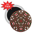 Christmas Kaleidoscope 2.25  Magnets (10 pack)  Front