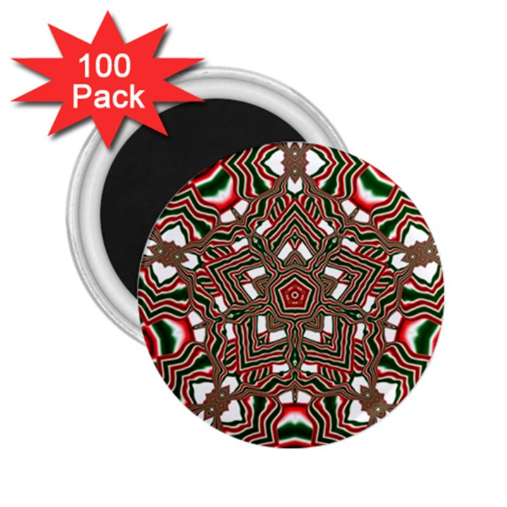 Christmas Kaleidoscope 2.25  Magnets (100 pack)