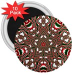 Christmas Kaleidoscope 3  Magnets (10 pack)  Front