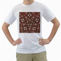 Christmas Kaleidoscope Men s T-Shirt (White) (Two Sided)