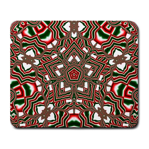 Christmas Kaleidoscope Large Mousepads