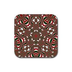 Christmas Kaleidoscope Rubber Coaster (Square)