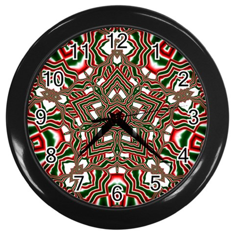 Christmas Kaleidoscope Wall Clocks (Black)