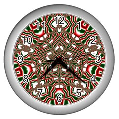 Christmas Kaleidoscope Wall Clocks (Silver)