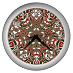 Christmas Kaleidoscope Wall Clocks (Silver)  Front