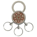 Christmas Kaleidoscope 3-Ring Key Chains Front
