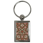 Christmas Kaleidoscope Key Chains (Rectangle)  Front