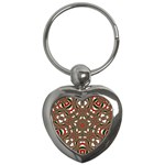 Christmas Kaleidoscope Key Chains (Heart)  Front