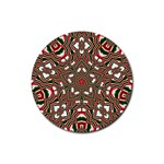Christmas Kaleidoscope Rubber Round Coaster (4 pack)  Front