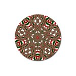 Christmas Kaleidoscope Magnet 3  (Round) Front