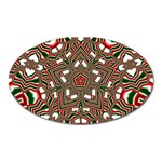 Christmas Kaleidoscope Oval Magnet Front