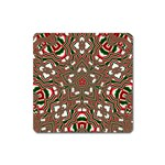 Christmas Kaleidoscope Square Magnet Front