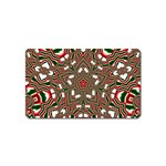 Christmas Kaleidoscope Magnet (Name Card) Front