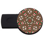 Christmas Kaleidoscope USB Flash Drive Round (2 GB)  Front
