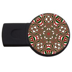 Christmas Kaleidoscope USB Flash Drive Round (1 GB)