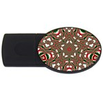 Christmas Kaleidoscope USB Flash Drive Oval (1 GB)  Front
