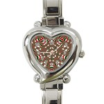 Christmas Kaleidoscope Heart Italian Charm Watch Front
