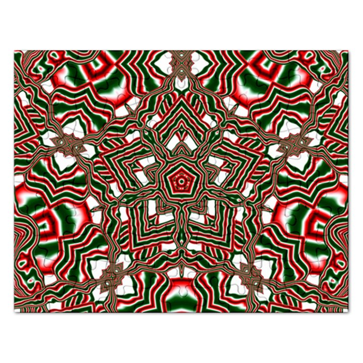 Christmas Kaleidoscope Rectangular Jigsaw Puzzl