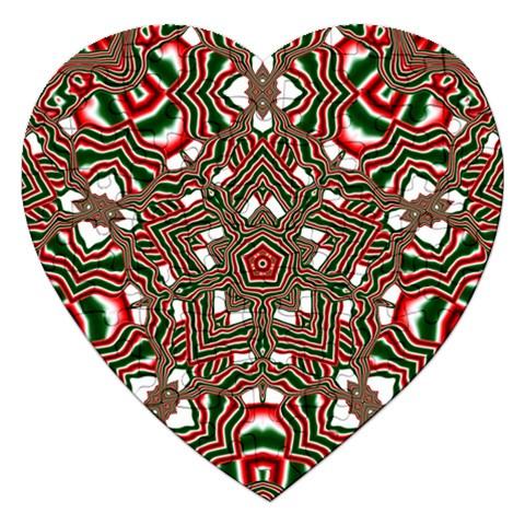 Christmas Kaleidoscope Jigsaw Puzzle (Heart)