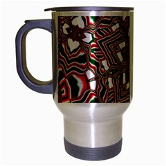 Christmas Kaleidoscope Travel Mug (Silver Gray)