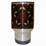 Christmas Kaleidoscope Travel Mug (Silver Gray) Center