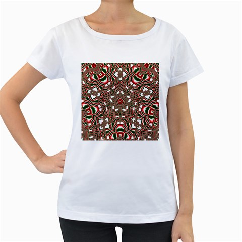 Christmas Kaleidoscope Women s Loose-Fit T-Shirt (White)